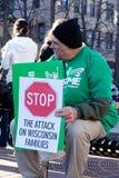 Madison Wisconsin protesta III Imágenes de archivo libres de regalías