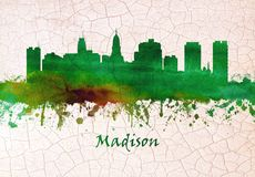 Free Madison Wisconsin Skyline Royalty Free Stock Photos - 144424758