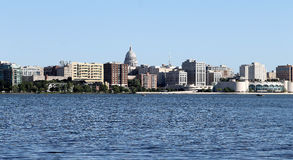 Madison Wisconsin Skyline Arkivbilder