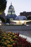 Madison Wisconsin - statlig Capitolbyggnad fotografering för bildbyråer