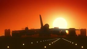 Madison Wisconsin USA America Skyline Sunrise Landing stock video