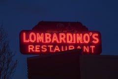 Lombardino`s Italian Restaurant Royalty Free Stock Photography