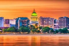 Madison Wisconsin, USA horisont royaltyfria foton