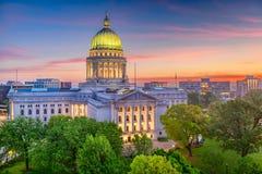 Madison Wisconsin, USA tillståndsKapitolium royaltyfria foton