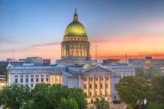 Madison Wisconsin, USA tillst?ndsKapitolium royaltyfri bild