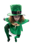 Madly leprechaun, isolated on white, concept st. patrick´s day Stock Image