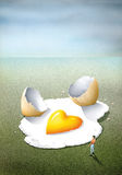 Madly in love, as a fried egg Royalty Free Stock Images