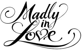 Madly in love. Vector version of my own calligraphy Stock Images