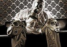 madman αερίου μάσκα Στοκ εικόνες με δικαίωμα ελεύθερης χρήσης