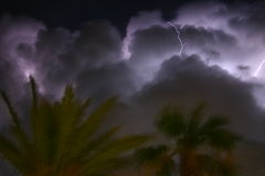 Madness. Lightning stock photo