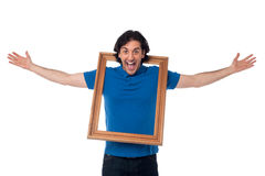 Madness at its best. Funny guy Stock Photography