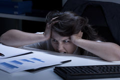 Madness in the office Stock Images