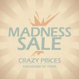 Madness sale design. Madness sale design template in retro style Stock Photos