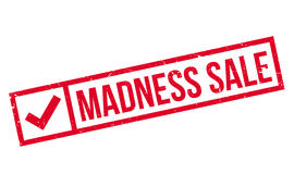 Madness Sale rubber stamp. Grunge design with dust scratches. Effects can be easily removed for a clean, crisp look. Color is easily changed Royalty Free Stock Photography
