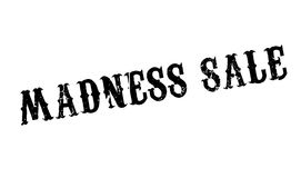 Madness Sale rubber stamp. Grunge design with dust scratches. Effects can be easily removed for a clean, crisp look. Color is easily changed Royalty Free Stock Photos