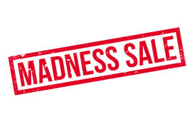 Madness Sale rubber stamp. Grunge design with dust scratches. Effects can be easily removed for a clean, crisp look. Color is easily changed Royalty Free Stock Photo
