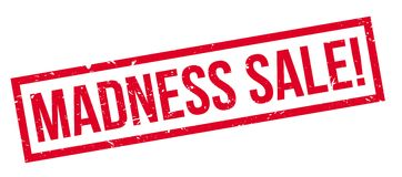 Madness Sale rubber stamp. On white. Print, impress, overprint Royalty Free Stock Photo