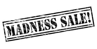 Madness sale black stamp. Madness sale stamp isolated on white background Royalty Free Stock Photography