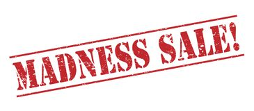 Madness sale  stamp. Madness sale red stamp isolated on white background Stock Photography