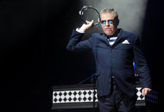 Madness. Singer Graham McPherson alias Suggs of famous British band Madness during performance at festival Rock for People in Hradec Kralove, Czech republic Stock Photos
