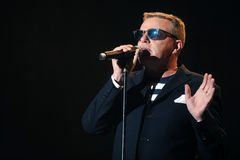 Madness. Singer Graham McPherson alias Suggs of famous British band Madness during performance at festival Rock for People in Hradec Kralove, Czech republic Stock Images