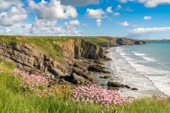 Madoc ` s避风港, Pembrokeshire, Dyfed,威尔士,英国 图库摄影