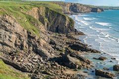 Madocs tillflyktsort, nära den Nolton tillflyktsorten, Pembrokeshire, Dyfed, Wales, UK arkivbild