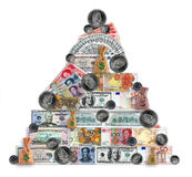 Madoff pyramid Stock Photo