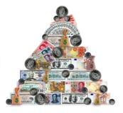 madoffpyramid Arkivfoto