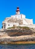 Madonetta lighthouse. Bonifacio, Corsica, France Stock Images