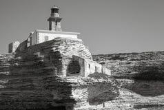 Madonetta lighthouse. Bonifacio, Corsica Stock Photography