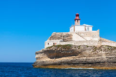 Madonetta lighthouse, Bonifacio port, Corsica, France Royalty Free Stock Image