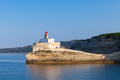 Madonetta lighthouse tower on coastal rock Royalty Free Stock Photos