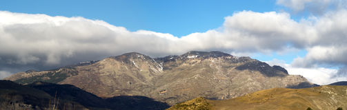 Madonie Mountains, sicily. Madonie Mountains from Polizzi Generosa, in the province of palermo. sicily Royalty Free Stock Photo