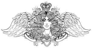 Madonna, дама скорбы Преданность к безукоризненному сердцу Ble бесплатная иллюстрация