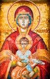 madonna иконы ребенка Стоковая Фотография