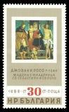 Madonna с ребенком и 2 Святыми Giovanni Rosso иллюстрация штока