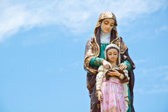 Madonna. Big madonna sculpture in thailand Royalty Free Stock Photo