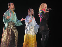 Madonna all'interno del concerto in tensione Fotografia Stock