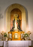 Madonna in altare cattolico Fotografia Stock Libera da Diritti