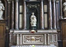 Madonna av Bruges av Michelangelo, Bruges, Belgien Royaltyfria Foton