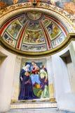 Madonna barnfreskomålning Santa Maria Della Pace Church Rome Italy arkivfoto