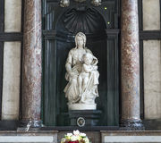 Madonna of Bruges by Michelangelo, Bruges, Belgium Royalty Free Stock Photos