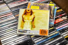 Madonna CD album Greatest Hits Volume 2 GHV2 on display for sale, famous American musician and singer, stock image