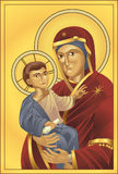 Madonna and Child. The Virgin Mary and Jesus Christ, all blends and gradients no meshes Royalty Free Stock Photos