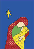 Madonna and Child. Christmas card design with madonna and child Stock Photography