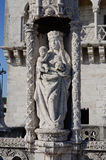 Madonna with Child - Belem - Lisbon, Portu Royalty Free Stock Image