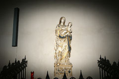 Madonna and Child. Cathedral-Basilica of Cefalu Royalty Free Stock Image