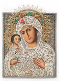 Madonna and child icon Stock Image