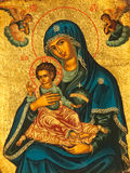 Madonna and child icon Stock Images